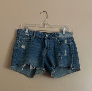 DL1961 distressed renee shorts medium wash size 26